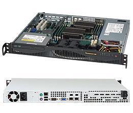 Сервер Supermicro CSE-512F-350/X11SCL-F/Xeon E-2224/8GB RAM DDR4 ECC/2x1TB HDD/2xGLAN/350W