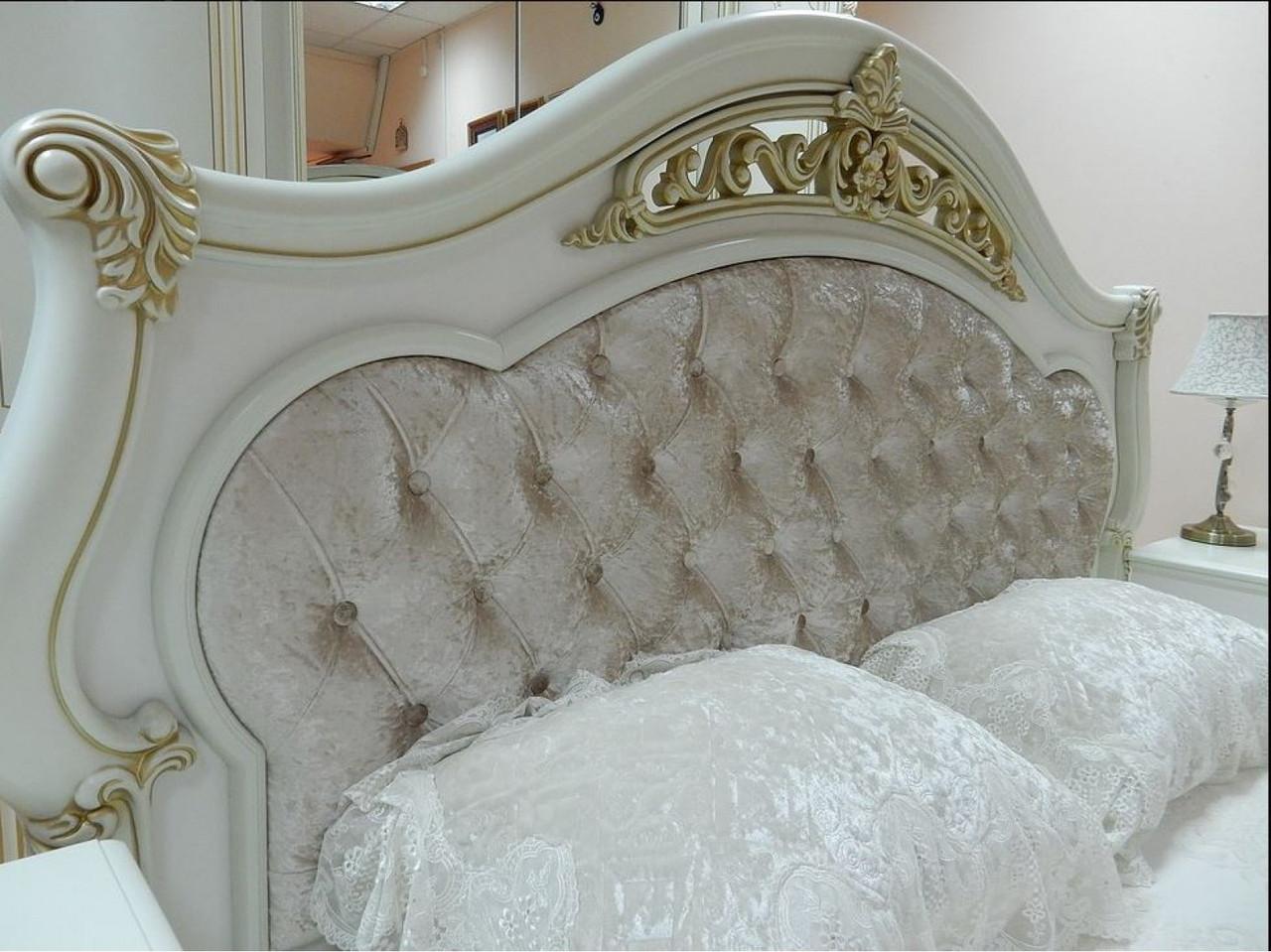 КАССАНДРА спальный гарнитур, 6Д, крем
