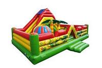 Батут детский игровой коммерческий Вулкан размер 7,5 х 5,0х3,5 м