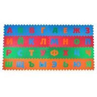 Детский коврик-пазл 'Алфавит', упаковка МИКС