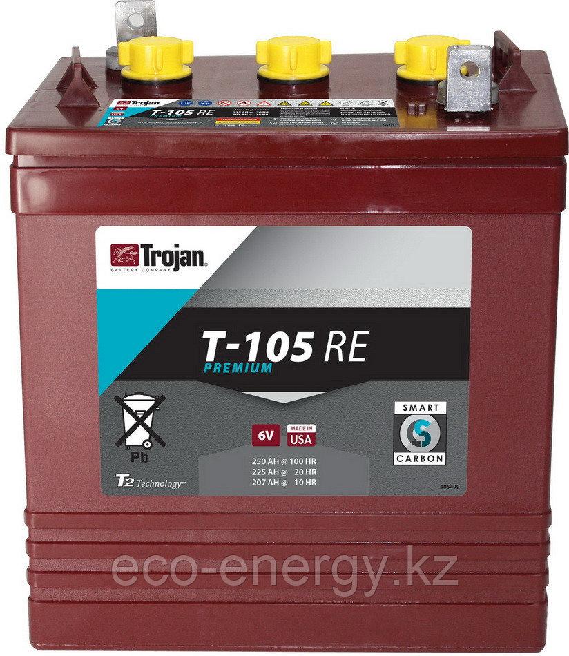 Trojan Т-105RE, емкость 225А/ч, 6 Вольт