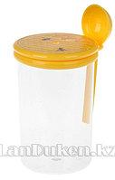 Банка для меда с ложкой 0,7 л. 30601 (003)