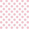 Лист ацетатный с розовыми фольгированными кругами Pink Foil Dots