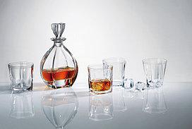 Набор для виски LAGUNA 7 предметов богемское стекло, Чехия 99999/9/99K88/844. Алматы