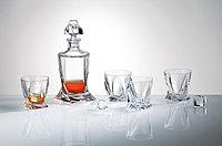 Набор для виски QUADRO 7 предметов богемское стекло, Чехия 99999/9/99A44/480. Алматы