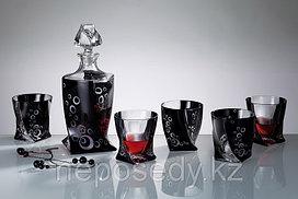Набор для виски QUADRO 7 предметов богемское стекло, Чехия 99999K/1001/9/48194X/093. Алматы