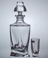 Набор для водки QUADRO 7 предметов богемское стекло, Чехия 99999/9/99A44/457