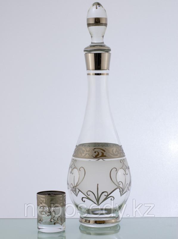 Набор для водки 7 пр. 606/37/7 set karafa+stopka mah.fon.pl. Алматы