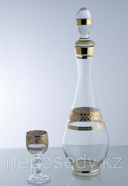 Набор для ликера 7 пр. 605/36/7 set karafa+vodka.cl mah.pruh.zl. Алматы