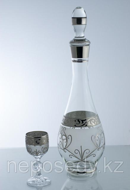 Набор для ликера 7 пр. 605/37/7 set karafa+vodka.cl mah.fon.pl. Алматы