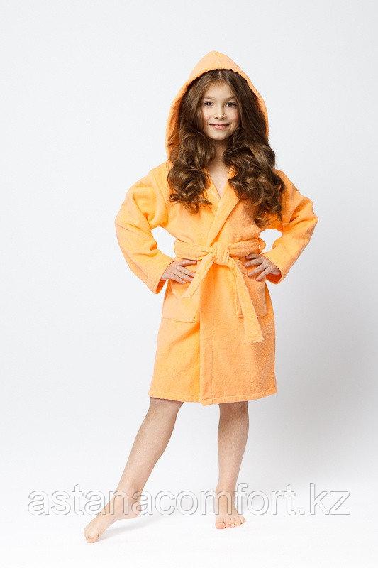 Халат детский махровый с капюшоном для девочек.