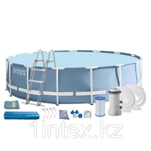 Каркасный бассейн Prism Frame 457x122 см, 16805л,  фильтр-насос 3785л/ч, лестница, тент, подстилка