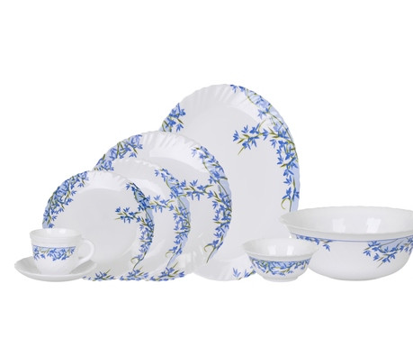 Столовый сервиз Arcopal Aliya Blue 38 предметов на 6 персон