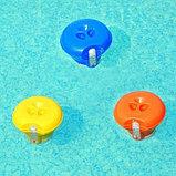 BestWay Поплавок-дозатор с термометром, 18,5 см, для химии в таблетках, фото 3