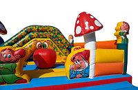 """Батут детский  коммерческий  """"Белоснежка и 7 гномов"""" размер 8,5х7,3х 3,3м"""