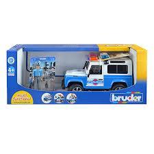 Брудер Внедорожник Bruder Внедорожник Land Rover Defender Station wagon Полиция с фигуркой