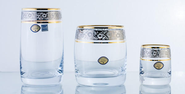 Набор стаканов подарочный 18 пред. 99999/0/43249/600/601 ideal. Алматы