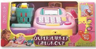 Набор супермаркет кассовый аппарат, продукты сет звук