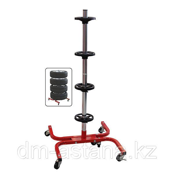 Тележка для хранения и транспортировки колёс. Г/п 125 кг