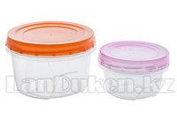 Набор круглых контейнеров 0,3 +0,7 л. 43102 (003)