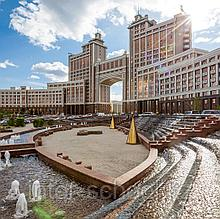 Millennium Axis walking tour Left Bank Astana