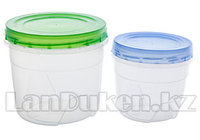 Набор круглых контейнеров 0,5 +1 л. 43202 (003)