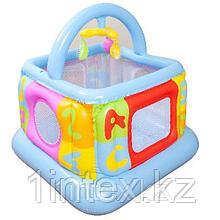 Intex Детский надувной манеж 117х117х117см, от 9 до 18 месяцев, уп.3
