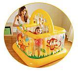 Intex Детский надувной манеж 117х117х117см, от 9 до 18 месяцев, уп.3, фото 6