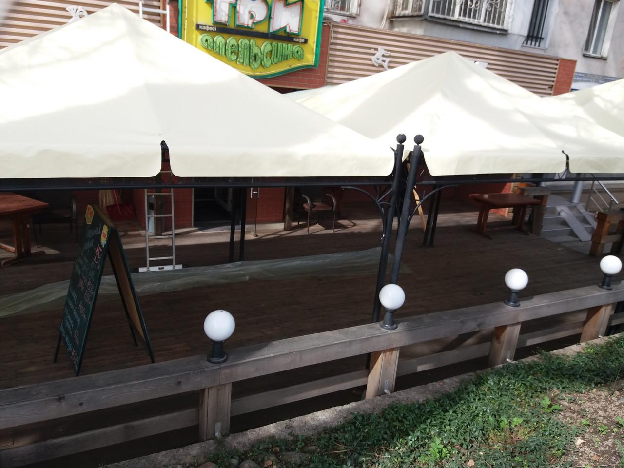 Пошив штор, тентов для шатров и садовых беседок