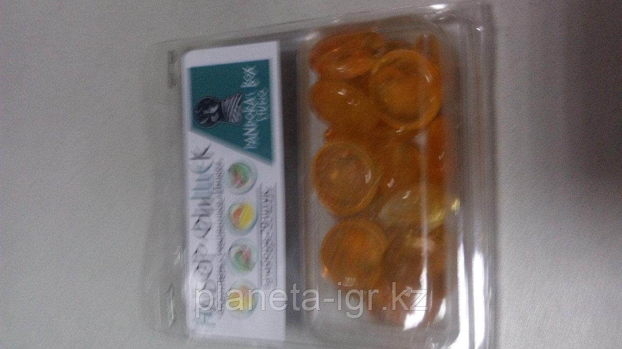 Набор фишек стеклянных каунтеров цвет оранжевый 20 шт