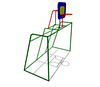 Уличное Спортивное оборудование «Ворота для мини-футбола с баскетбольным кольцом» Размеры 3200х1995х3410мм