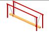Спортивное детское оборудование для улицы «Подвижное бревно» Размеры 3000х600х1500мм