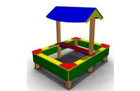 Детская Песочница с навесом Размеры: 2000 х 1500 х 1600мм