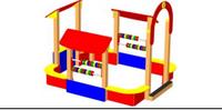 Детский игровой  Песочный дворик Размеры 2850х2700х2260мм