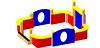 Детский игровой  Песочный дворик Размеры 2800х2650х750 мм