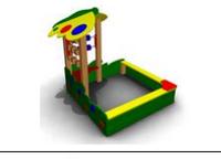 Детская игровая Песочница «Бабочка» Размеры: 1840*1845*1705 мм