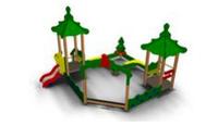 Детский игровой  Песочный дворик «Лесная поляна» Размеры: 5000 x 4500 x 3420 мм