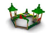 Детский игровой  Песочный дворик «Лесная поляна 2» Размеры: 4090 x 4090x 2920мм