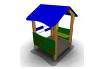 Детский Домик-беседка для дачи Размеры: 1400 x 1665 x 1955 мм