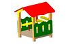 Детский игровой Домик-беседка Размеры:  1290х1200х1620 мм