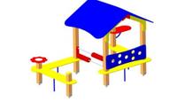 Игровой уличный Домик-беседка Размеры: 2950х1500х2000мм
