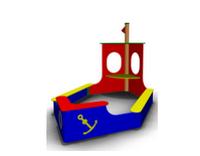 Песочница «Кораблик» для дачи Размеры: 3650 x 1925 x 2145мм