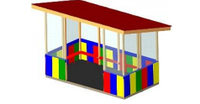 Детская Веранда для детского сада Размеры: 7080х4120х3110мм
