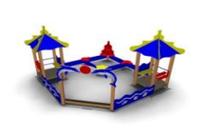 Песочный дворик «Коралл» Размеры: 4105*4090*2725мм