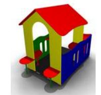 Детский уличный Домик-беседка «Избушка» Размеры: 2600х1450х1750мм