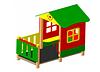 Детский уличный Домик-беседка «Избушка» Размеры: 2400х1670х2200мм