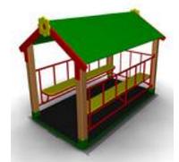 Детский Домик-беседка «Ромашка» для улицы Размеры: 2285 x 1440 x 1750мм