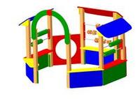 Детская игровая  Песочница-беседка «Счетовод» Размеры: 3045 x 2870 x 2195мм