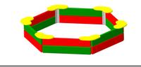 Детская игровая  Песочница Размеры: 1840х1635х303мм