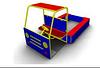 Детская уличная Песочница «Грузовик» Размеры: 2520х1300х1200мм